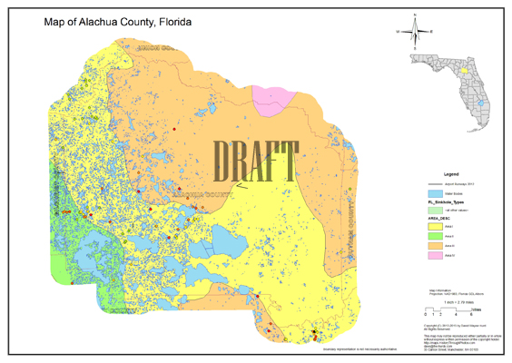 Sinkhole Map, Alachua County, Florida on map of polk county fl, map of pasco county fl, map of duval county fl, map of collier county fl, map of pinellas county fl, map of indian river county fl, map of jackson county fl, map of putnam county fl, map of hillsborough county fl, map of st lucie county fl, map of manatee county fl, map of orange county fl, map of st. johns county fl, map of marion county fl, map of lake county fl, map of charlotte county fl, map of brevard county fl, map of sumter county fl, map of glades county fl, map of santa rosa county fl,