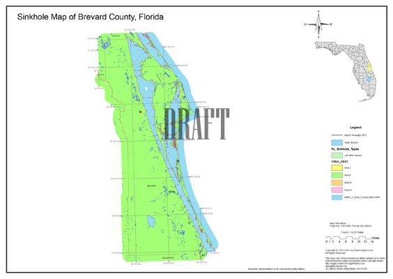 Sinkhole Map Brevard County Florida