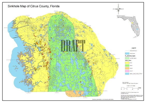 Sinkhole Map Citrus County Florida