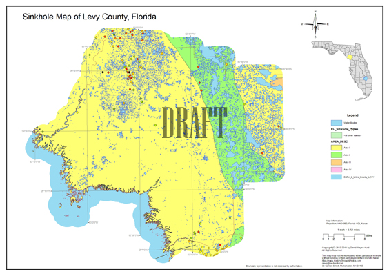 Counties In Florida Map.Sinkhole Map Levy County Florida