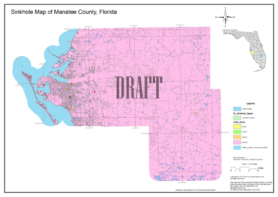 Sinkhole Map Manatee County Florida