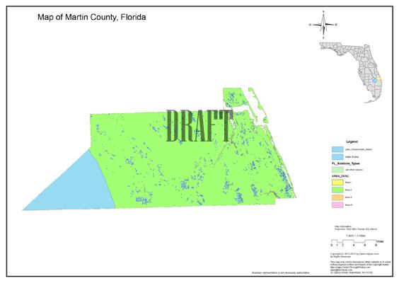 Florida Sinkholes Map.Sinkhole Map Martin County Florida