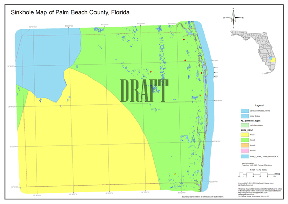 Map Of Palm Beach County Florida.Sinkhole Map Palm Beach County Florida