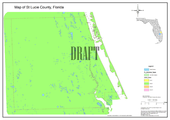Map Of St Lucie County Florida.Sinkhole Map St Lucie County Florida