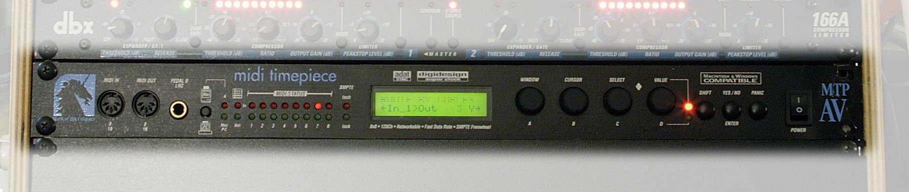 midi timepiece av 1996 mtp av 8x8 midi interface rh oldschooldaw com Midi Timepiece AV Manual MOTU Digital Timepiece