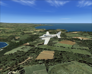 FSX Flying over the Isle of Man, UK